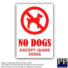 No Dogs Except Guide Dogs-Shop,Warning,Notice,Sticker,Sign,Business,Door,Blind,Building,Dog